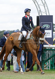 Pippa Funnell and REDESIGNED - show jumping phase, Burghley Horse Trials 2013.