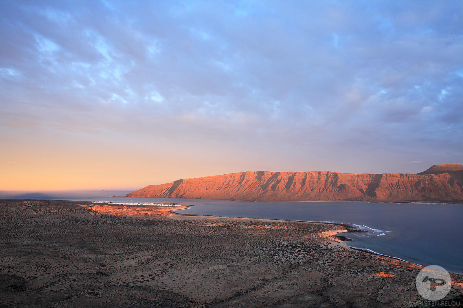 Travel photographer Paris - La Graciosa at sunset. Photo ©Kristen Pelou
