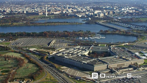 Wide View of the Pentagon With Washington DC in Background.