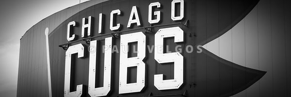 Chicago Cubs Sign Panoramic Picture