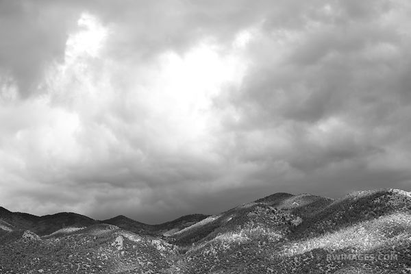 SANGRE DE CRISTO MOUNTAINS GREAT SAND DUNES NATIONAL PARK COLORADO BLACK AND WHITE