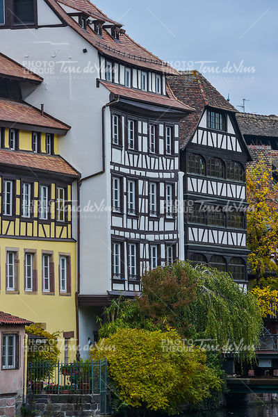 Strasbourg, part of nice house in Petite France area.