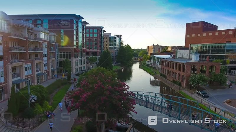 Downtown Greenville South Carolina At Sunset