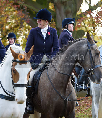Jacqui Bourke at the meet - The Cottesmore at Somerby 5/11