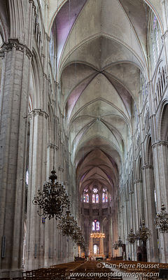 Gigantic nave of Bourges
