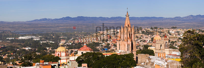 Skyline and the Parroquia, San Miguel de Allende, Mexico