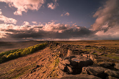 Stanage Edge spring evening