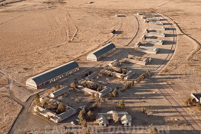 Aerial photograph of the The Chinati Foundation | La Fundación Chinati