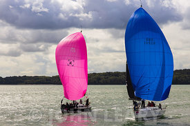Pink and Blue Spinnakers.