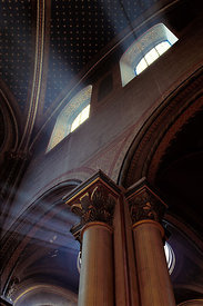 Rays of light in Saint Germain church, Paris