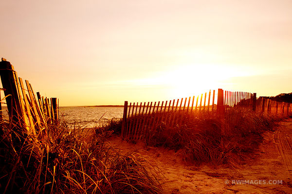 SUNSET BEACH FENCE FALMOUTH MASSACHUSETTS COLOR