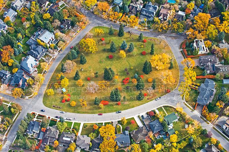 Residential Neighborhood in Fall