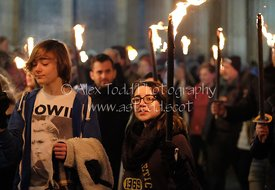 EDINBURGH'S HOGMANAY TORCHLIGHT PROCESSION, Friday 30th December 2016.