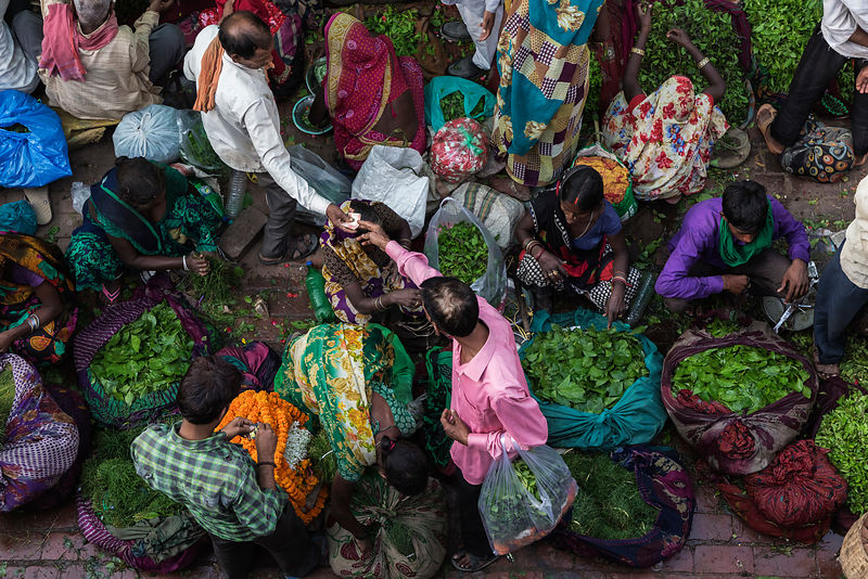 Financial Transaction at Varanasi Flower Market