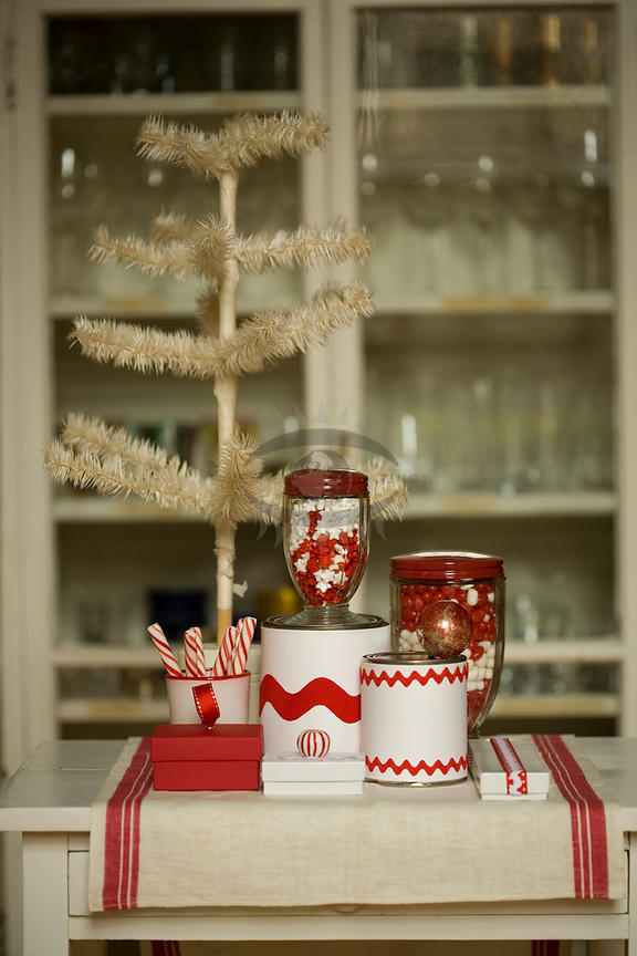 Red and White Christmas Candy