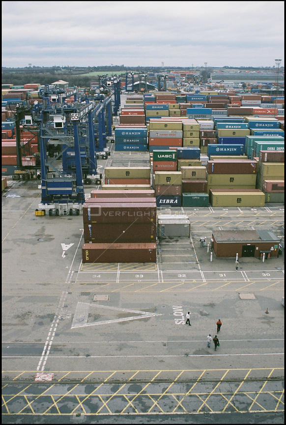 UK Felixstowe -- Jan 2004 -- Seafarers wait for transport to the Mission to Seafarers centre at the port. The charity provide...