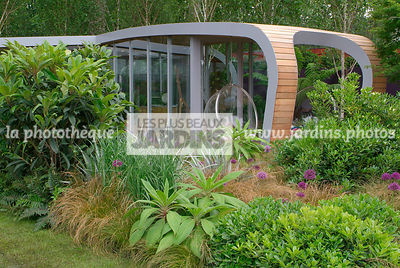 Contemporary garden, Digital, Grasses, Scenery, Summer, Veranda