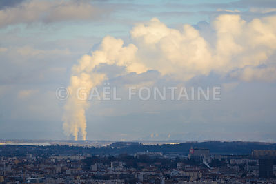 Clouds of nuclear center at Lyon , France