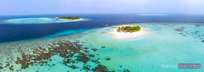 Panoramic view of a tropical island, Maldives