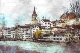 The Limmat, Zurich, in March