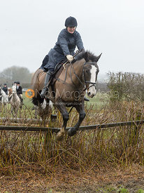 Doone Chatfeild-Roberts jumping a hedge near Pasture Lane