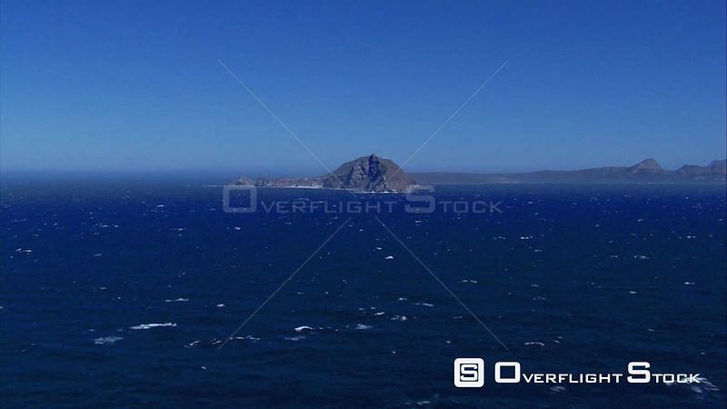 Aerial shot of the ocean surrounding Cape Point. Cape Town Western Cape South Africa