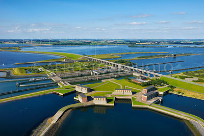 The Krammer Locks within the Philipsdam, Delta Works, South-Holland, Zeeland, the Netherlands,