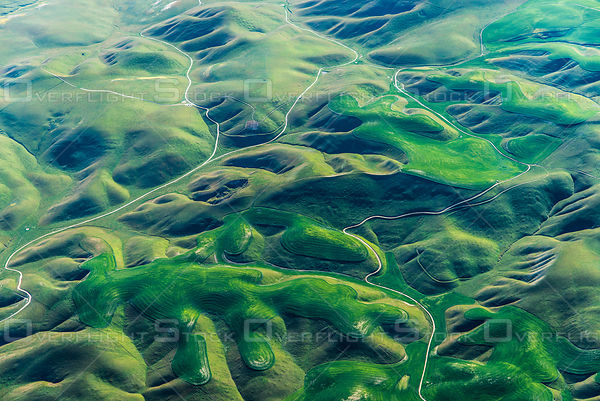 San Andreas Fault Ridges and Valleys That Turn Green in the Spring California