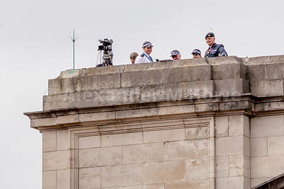 Security and TV camera on Buckingham Palace roof