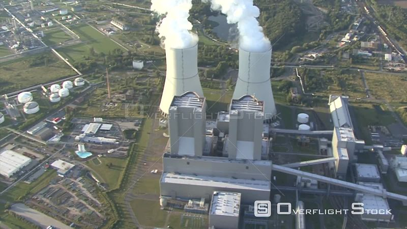 Video film sequence from the brown coal - heating power plant Lippendorf in Saxony