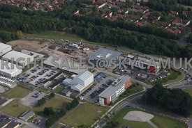 Warrington aerial photograph of new office developments on Birchwood Park