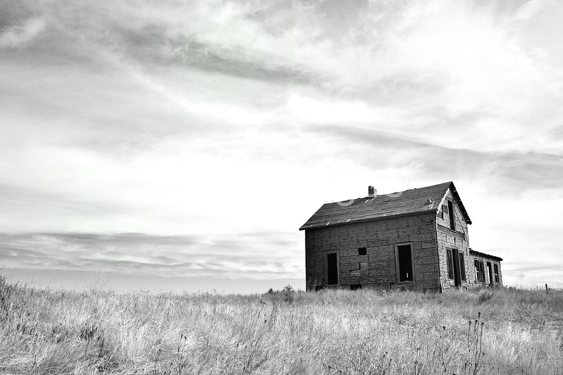 Rural Stock Photos: Homestead on Rosma Farm near Albin, WY