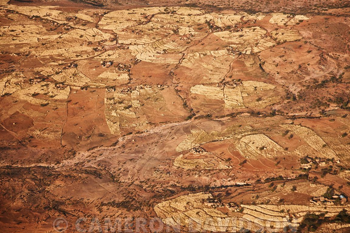 Aerial Ethiopia Terraced Fields