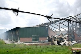 Brand kippenstal Woudenberg | Barn fire chicken farm