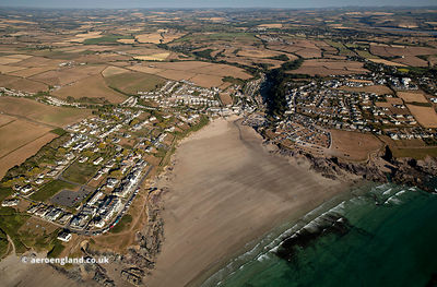 Polzeath  aerial photograph