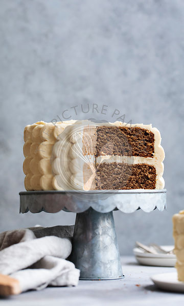 A frosted layer cake