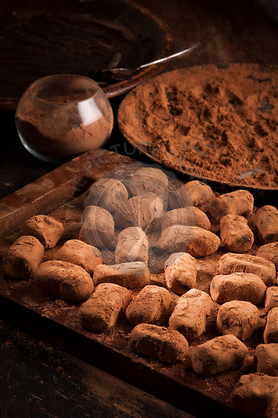 chocolate truffles in cocoa powder