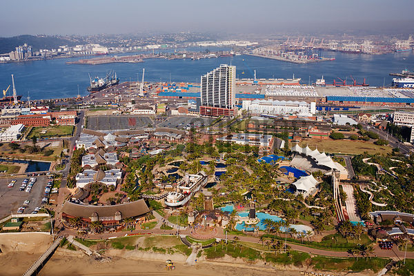 uShaka Entertainment Complex and the Durban Harbour