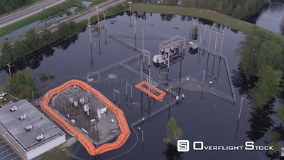 Substation Flooding and Storm Aftermath of Hurricane Florence in North Carolina