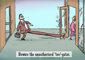 Beware The Toe-Gator