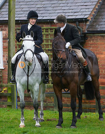 Hilary Butler and John Knowles at the meet - The Cottesmore at John O'Gaunt 24/11/12