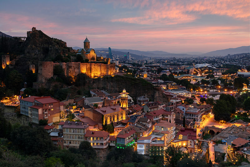Elevated View of the Old City at Dawn