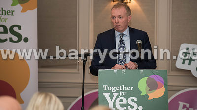 NO REPRO FEES - 11th May, 2018. Pictured at the 'Get Together For Yes' tour at the Temple Gate Hotel, Ennis was guest speaker...