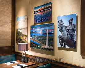 Color photography displayed in restaurant