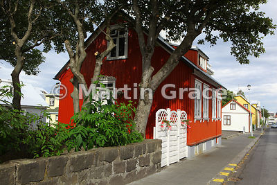 Traditional style of dwelling house in Reykjavik, Iceland