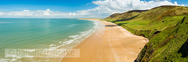 Panoramic view of Rhossili Bay, Gower Peninsula - BP3595