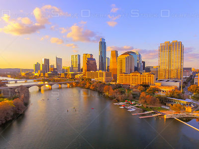 Austin  Texas Downtown City Skyline USA