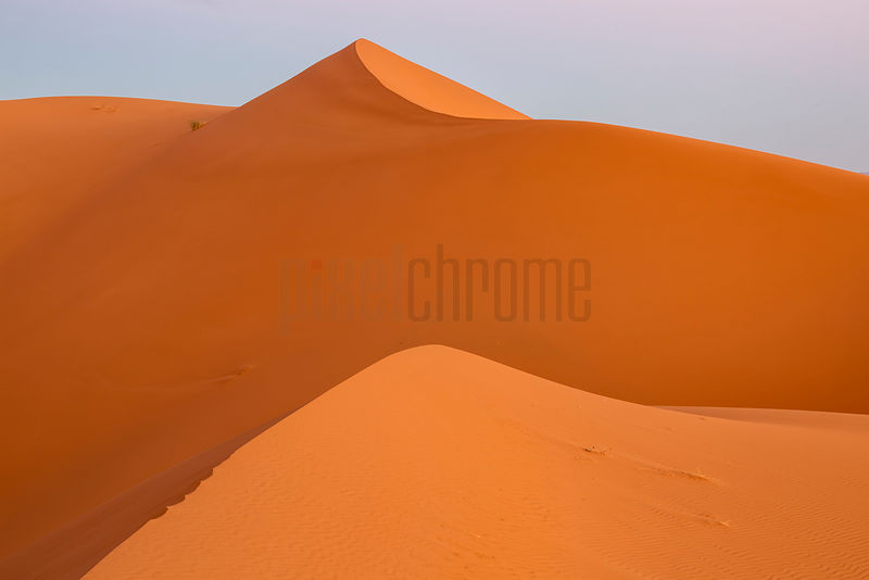 Pre-Dawn Glow of Erg Chebbi Sand Dunes