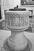 National Cathedral Baptism Font (B&W)- Washington, DC