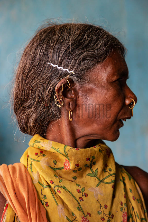 Portrait of a Woman from the Dongria Kondh Hill Tribe.